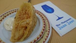 La rica tortilla del Bar Juan José de Huelva. / Foto: Tripadvisor.