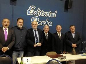De izquierda a derecha: A. Sánchez, Antonio Castillejo, A. Garrido Carrión, ganador del Premio; Antonio J. Martínez Navarro, Manuel Ortega y Francisco José Martínez López.