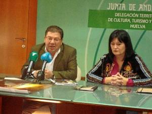 Palabras del alcalde de Trigueros durante la presentación.