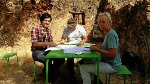 Los arquitectos, trabajando con los promotores.