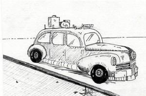 Dibujo de Ángel Martínez Rodríguez  de uno de aquellos nuevos modelos.