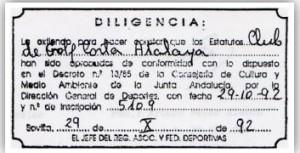 """25 Aniversario del Club Golf """"Corta Atalaya"""" de Minas de Riotinto"""