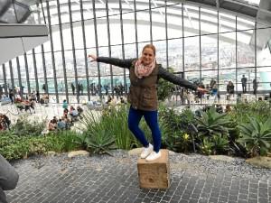 Marina, en el 'Sky Garden' de Londres.