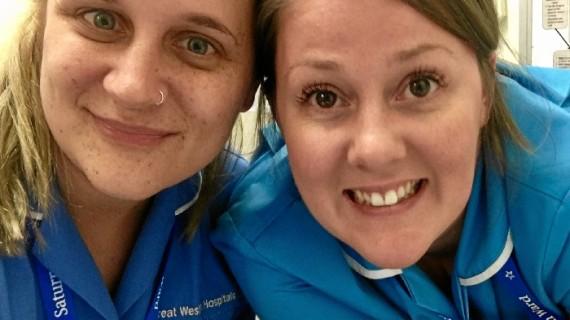 Marina Peguero, una onubense que trabaja como enfermera en un hospital de Swindon