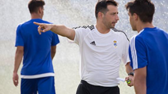 """Ángel López califica de """"gran reto para el Recreativo"""" jugar y ganar este domingo al líder del grupo"""