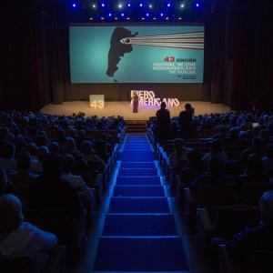 Gala de apertura de la 43 edición del Festival de Cine Iberoamericano de Huelva.