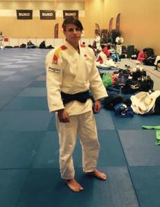 Cinta García, deportista del Huelva TSV Judo, que ha tomado parte en el Grand Prix de Holanda. / Foto: @JudoHuelva1.