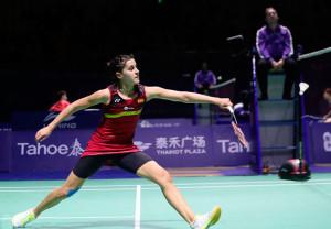 Carolina Marín se quedó en la antesala de la final del Open de China de bádminton. / Foto: Bádminton Photo.