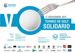Cartel del torneo de golf benéfico que tendrá lugar en Bellavista este sábado.