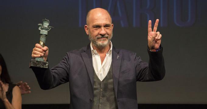 El actor argentino Darío Grandinetti recibe el Premio Ciudad de Huelva