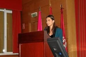 Leire fue elegida entre los 17 mejores expedientes de Odontología de España para ofrecer un discurso a la promoción futura.
