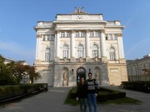 Imagen de la Universidad en la que estudia Esther en Varsovia.
