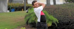 El joven Carlos Leandro ha conseguido una beca para estudiar en EEUU gracias al golf.