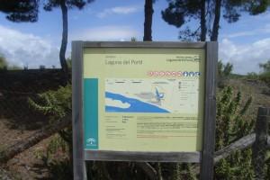 El sendero nos permitirá disfrutar de la Laguna del Portil. / Foto: Junta de Andalucía.
