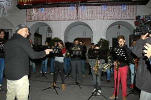 Actuación de la banda de música del Ateneo Musical cartayero,