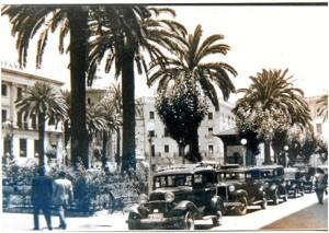 Parada de taxis en la Plaza de las Monjas.