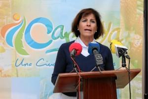 Concejala de Caminos Rurales del Ayto de Cartaya, María Isabel Pérez.