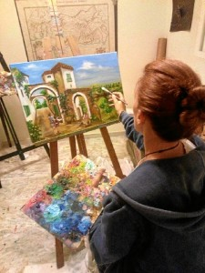 Inmaculada Mora, en su estudio.