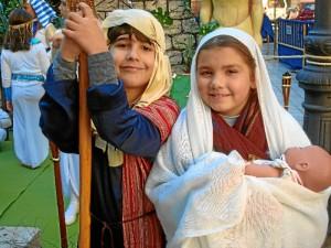 Tradicional Belén Viviente del Colegio María Inmaculada.