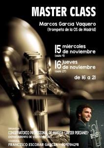 En noviembre, Marcos ofreció una clase magistral en el Conservatorio.