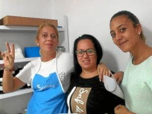 Rocío Hernández, Susana Sevilla y Estefanía Gómez, responsables de 'Jabones con corazón'.
