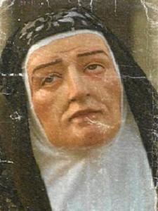 Santa Teresa, obra del insigne escultor.
