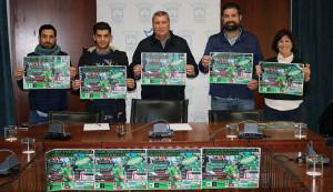 Un momento de la presentación del campeonato para porteros 'Portería Cero Double Goalkeeper Battle', que tendrá lugar en Cartaya.