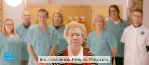 La presidenta de AFAME, Elvira Rasco, al final del video. / Foto: Twitter (Cuna de Platero).