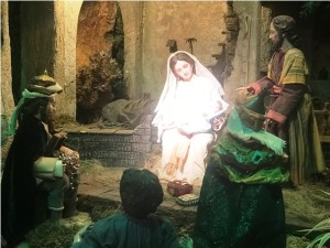 Detalle del Nacimiento en el Belén de Garduño.