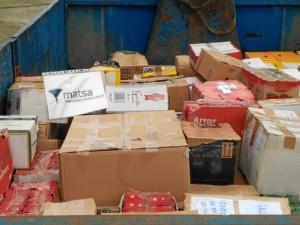 Productos que entregan a la 'Caravana por la Paz'.