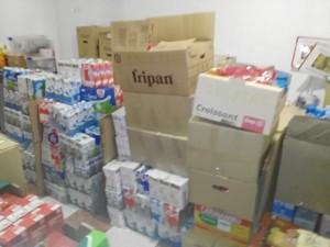 Han logrado reunir hasta 180 cajas de alimentos.