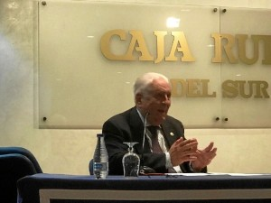 José María Segovia, durante su presentación.