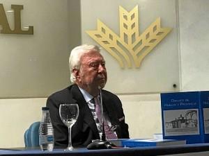 José Luis García Palacios, presidente de la Caja Rural del Sur, durante la presentación.