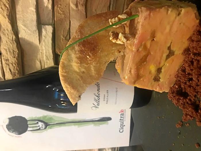 Terrina de foie, turrón y manzana