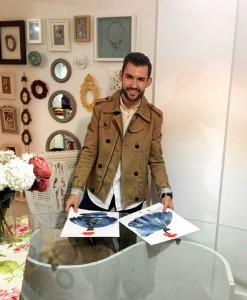 El joven diseñador Joaquín Dogo.