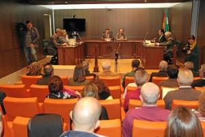 Un momento del VI Encuentro con los Jueces y Secretarios de Paz de la provincia de Huelva.