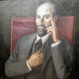 Retrato de Juan Ramón por Daniel Vázquez Díaz.