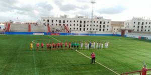 La Palma y Cartaya jugaron un partido equilibrado que acabó con empate a un gol. / Foto: @ANTONIOMACIASPI.