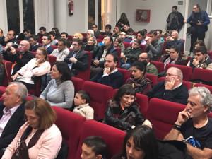 Aspecto del Salón Rojo de la Casa Colón durante la presentación del libro. / Foto: G. D.