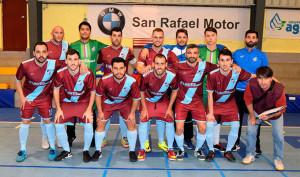 Formación de CD Onuba Autoparts, único equipo de Huelva que ganó esta jornada en la Tercera División de fútbol sala.