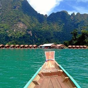 Viajar es una de sus mayores aficiones. En la imagen, en el Parque Nacional de Khao sok, una selva inundada de miles de kilómetros.