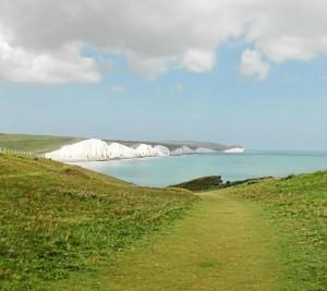 Una imagen de la zona en la que vive, llamada Parque Natural Seven Sisters, conocido por sus acantilados.