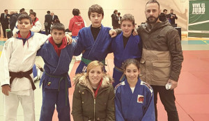 Representantes del TSV Judo Huelva en los eventos celebrados en Padul.