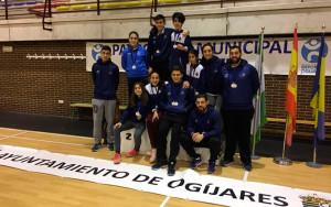 Representantes del Recre IES La Orden en el TTR de Ogíjares (Granada).