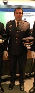 José Martín lleva 16 años de servicio como policía local en Ayamonte.