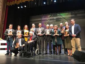 Los premiados con las Uvas de la SER 2017. / Foto: Cadena Ser.