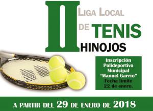 Cartel anunciador de la II Liga de Tenis de Hinojos.