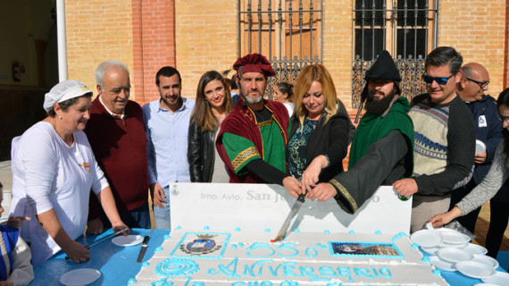 San Juan celebra su 550 cumpleaños junto a los centros escolares y una gran tarta