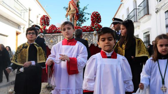 Cartaya acompaña a San Sebastián en el 75 aniversario de la talla