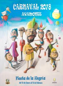 Cartel del Carnaval de Ayamonte 2018.